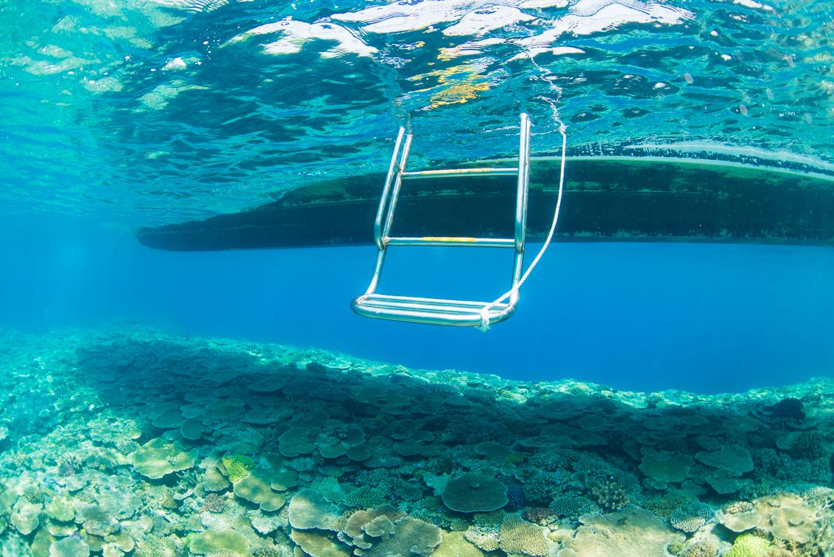 沖縄トップクラスの珊瑚礁・恩納村「ミニドリームホール」