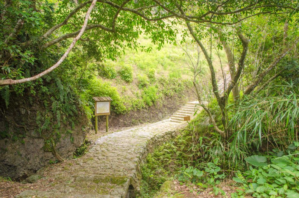 恩納村 裏観光スポット 山田谷川の石矼