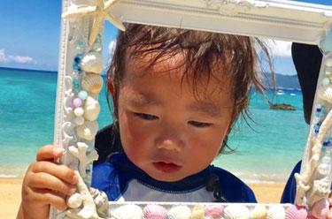 恩納村ダイビング 小さい子供