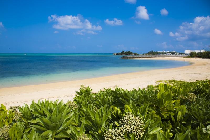恩納村のプライベートビーチ